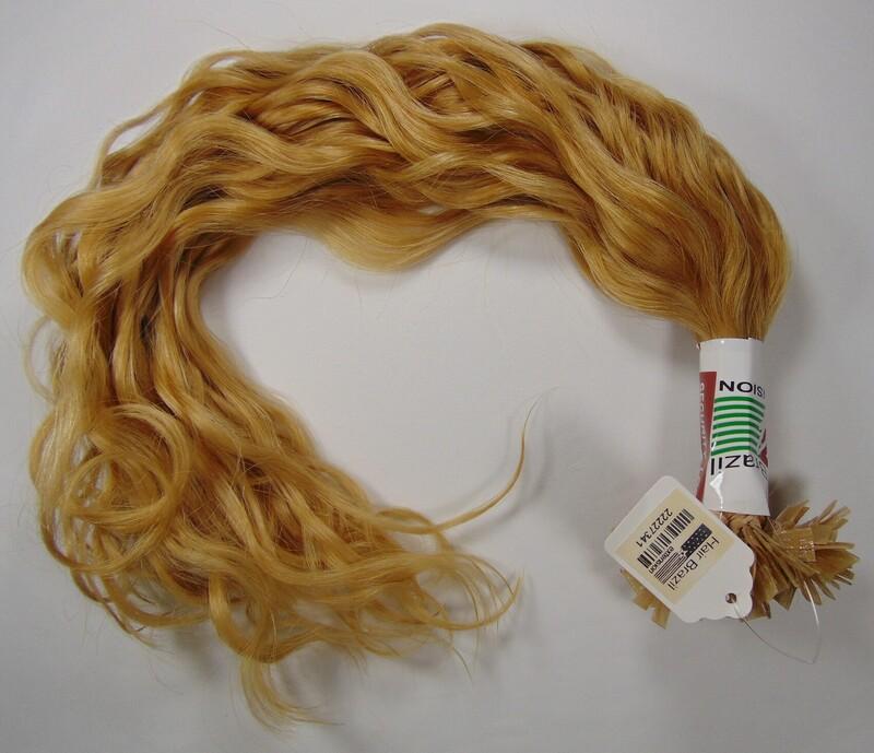 "Flat Nail Curly 20"" Clr 10/0 - 150pcs"